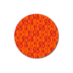 Orange Magnet 3  (round) by Jojostore