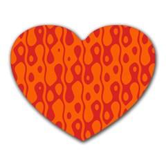 Orange Heart Mousepads by Jojostore