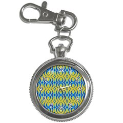 Blue Yellow Key Chain Watches by Jojostore