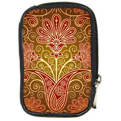 European Fine Batik Flower Brown Compact Camera Cases by Jojostore