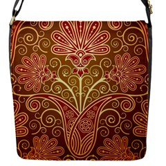 European Fine Batik Flower Brown Flap Messenger Bag (s) by Jojostore