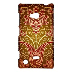 European Fine Batik Flower Brown Nokia Lumia 720 by Jojostore