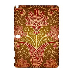 European Fine Batik Flower Brown Galaxy Note 1 by Jojostore
