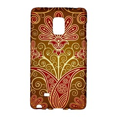 European Fine Batik Flower Brown Galaxy Note Edge by Jojostore