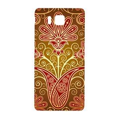 European Fine Batik Flower Brown Samsung Galaxy Alpha Hardshell Back Case by Jojostore