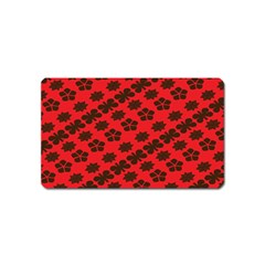 Diogonal Flower Red Magnet (Name Card) by Jojostore