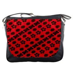 Diogonal Flower Red Messenger Bags by Jojostore