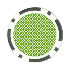 Diamonds Green White Poker Chip Card Guard (10 pack) by Jojostore