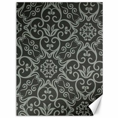 Flower Batik Gray Canvas 36  X 48   by Jojostore