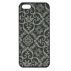 Flower Batik Gray Apple Iphone 5 Seamless Case (black) by Jojostore