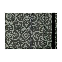 Flower Batik Gray Apple Ipad Mini Flip Case by Jojostore