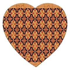 Flower Batik Jigsaw Puzzle (heart) by Jojostore