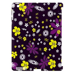 Floral Purple Flower Yellow Apple Ipad 3/4 Hardshell Case (compatible With Smart Cover) by Jojostore