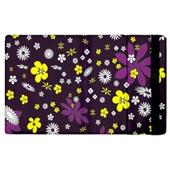 Floral Purple Flower Yellow Apple Ipad 3/4 Flip Case by Jojostore
