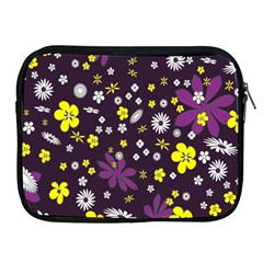 Floral Purple Flower Yellow Apple Ipad 2/3/4 Zipper Cases by Jojostore