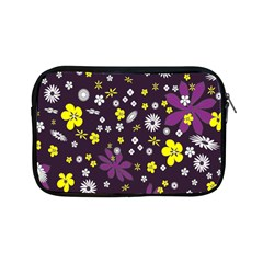 Floral Purple Flower Yellow Apple Ipad Mini Zipper Cases by Jojostore