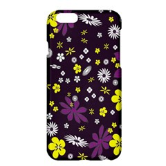 Floral Purple Flower Yellow Apple Iphone 6 Plus/6s Plus Hardshell Case by Jojostore