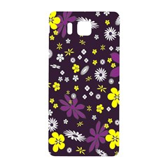 Floral Purple Flower Yellow Samsung Galaxy Alpha Hardshell Back Case by Jojostore
