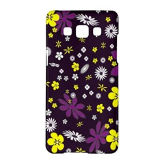 Floral Purple Flower Yellow Samsung Galaxy A5 Hardshell Case  by Jojostore