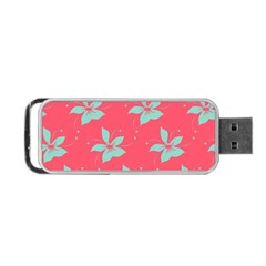 Flower Green Red Portable Usb Flash (one Side) by Jojostore
