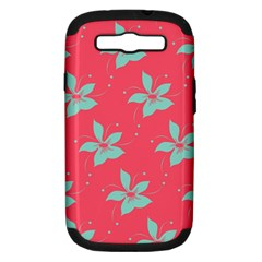 Flower Green Red Samsung Galaxy S Iii Hardshell Case (pc+silicone) by Jojostore