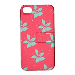 Flower Green Red Apple Iphone 4/4s Hardshell Case With Stand by Jojostore