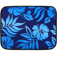 Flower Blue Fleece Blanket (mini) by Jojostore