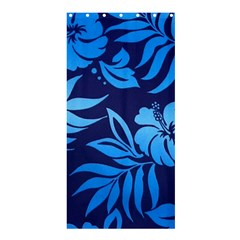 Flower Blue Shower Curtain 36  X 72  (stall)  by Jojostore
