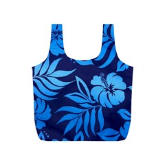Flower Blue Full Print Recycle Bags (s)  by Jojostore