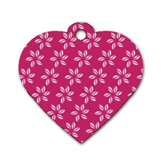 Flower Roses Dog Tag Heart (two Sides) by Jojostore