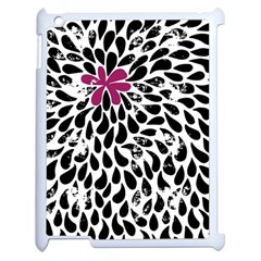 Flower Simple Pink Apple Ipad 2 Case (white) by Jojostore