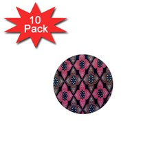 Flower Pink Gray 1  Mini Magnet (10 Pack)  by Jojostore