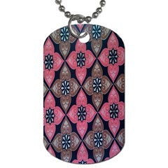 Flower Pink Gray Dog Tag (two Sides) by Jojostore