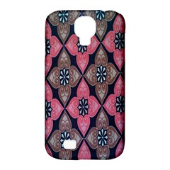 Flower Pink Gray Samsung Galaxy S4 Classic Hardshell Case (pc+silicone) by Jojostore