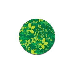 Flower Yellow Green Golf Ball Marker by Jojostore