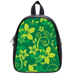 Flower Yellow Green School Bags (small)  by Jojostore