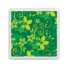 Flower Yellow Green Memory Card Reader (square)  by Jojostore