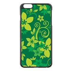 Flower Yellow Green Apple Iphone 6 Plus/6s Plus Black Enamel Case by Jojostore