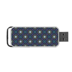 Flower Star Gray Portable Usb Flash (one Side) by Jojostore