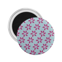 Flowers Fushias On Blue Sky 2 25  Magnets by Jojostore