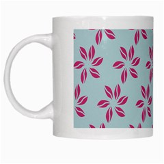 Flowers Fushias On Blue Sky White Mugs by Jojostore