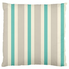 Gray Blue Large Flano Cushion Case (one Side) by Jojostore