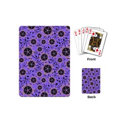 Flower Floral Purple Playing Cards (mini)  by Jojostore