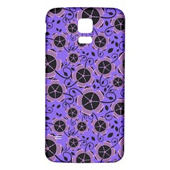 Flower Floral Purple Samsung Galaxy S5 Back Case (white) by Jojostore
