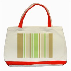 Gray Green Classic Tote Bag (red) by Jojostore