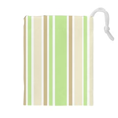 Gray Green Drawstring Pouches (Extra Large) by Jojostore