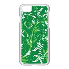 Leaf Flower Butterfly Green Apple Iphone 7 Seamless Case (white) by Jojostore