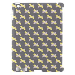 Hearts And Yellow Crossed Washi Tileable Gray Apple Ipad 3/4 Hardshell Case (compatible With Smart Cover) by Jojostore