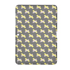 Hearts And Yellow Crossed Washi Tileable Gray Samsung Galaxy Tab 2 (10 1 ) P5100 Hardshell Case  by Jojostore