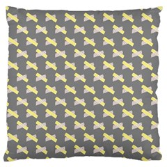 Hearts And Yellow Crossed Washi Tileable Gray Standard Flano Cushion Case (two Sides) by Jojostore